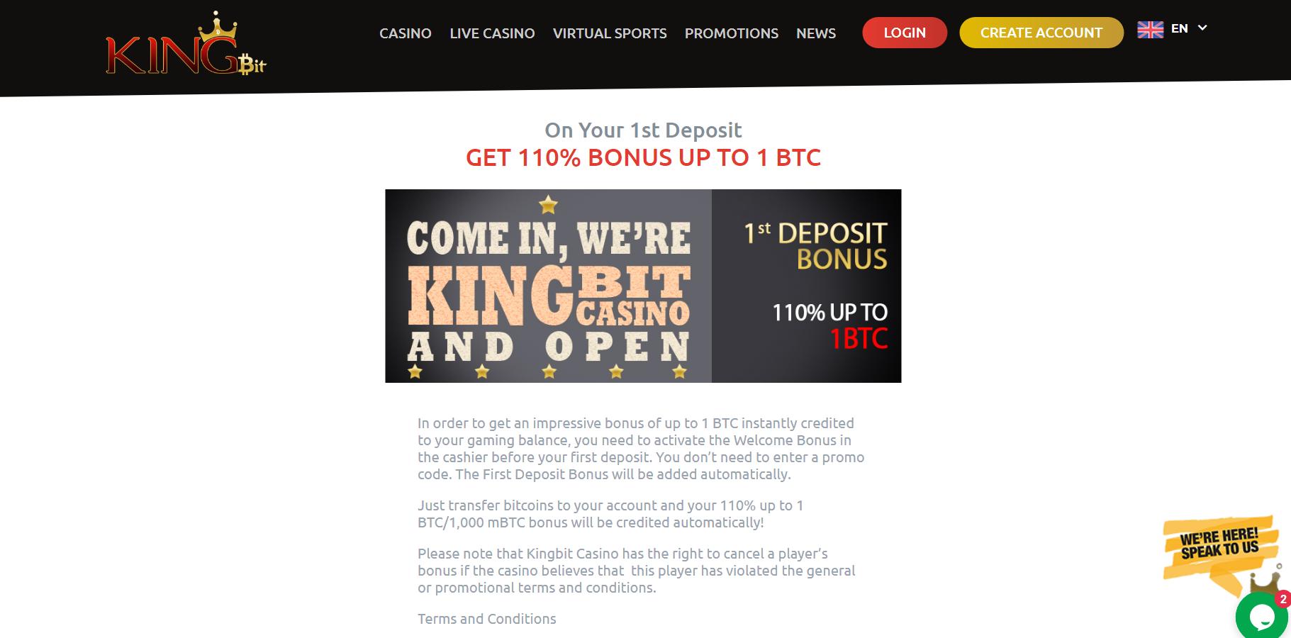 miglior bonus di deposito bitcoin